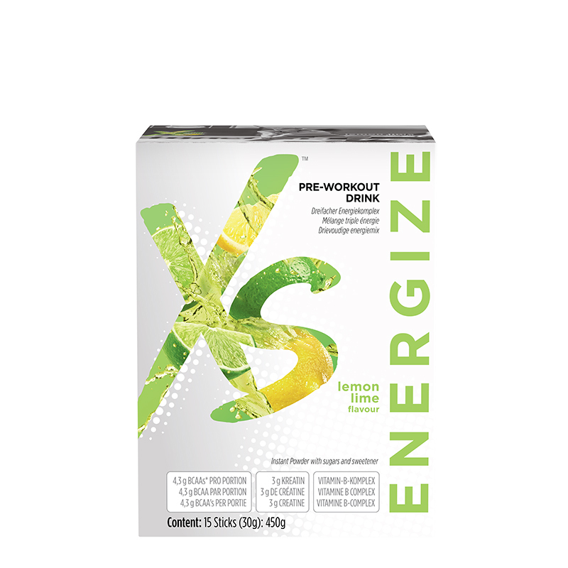 Pre-Workout Drink Lemon Lime Flavour XS
